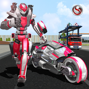 Robot Bike Transport Truck Sim For PC