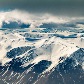 Storm Clouds over the Wrangell Range by Kelly Maize - Landscapes Mountains & Hills ( wrangell, mountains, storm, alaska, snow, clouds, mountain range, landscape )