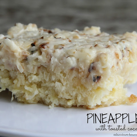 Pineapple Cake with Toasted Coconut Frosting