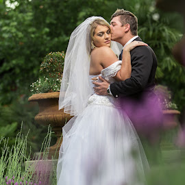 Garden Wedding by Lodewyk W Goosen (LWG Photo) - Wedding Bride & Groom ( brides, wedding dress, husband, garden wedding, husband and wife, wedding day, wedding, weddings, wife, wedding love, couple, bride and groom, bride, groom )