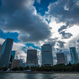 Miami by Dave Boyer - Buildings & Architecture Office Buildings & Hotels ( skyline, sky, blue, miami, ocean )