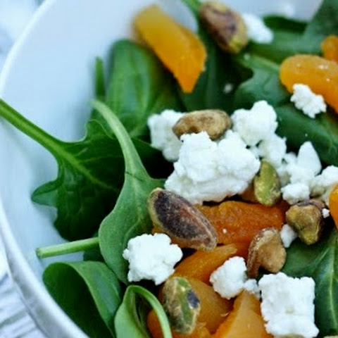 Dried Apricot, Goat Cheese, and Pistachio Salad