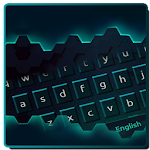 Neon Technology Keyboard Icon