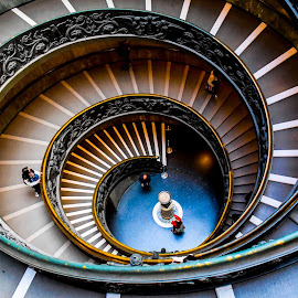 vertigo by Meet Engineer - Buildings & Architecture Public & Historical ( rome, wooden, spiral, vatican, staircase, italy, architecture )