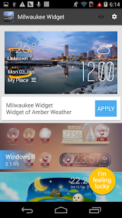 Miami weather widget/clock - screenshot