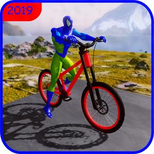 Superhero spider bicycle stunt master 2019 For PC (Windows & MAC)