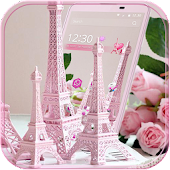APK App Eiffel Tower Pink Theme for BB, BlackBerry