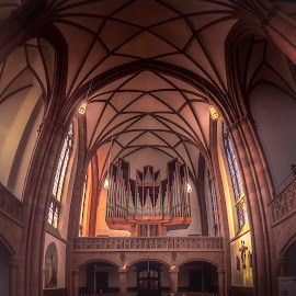 Dreikönigskirche by Ole Steffensen - Buildings & Architecture Places of Worship ( hessen, frankfurt, church, organ, pipe organ, dreikönigskirche, germany )