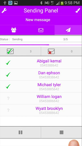 Multi SMS & Group SMS PRO - screenshot