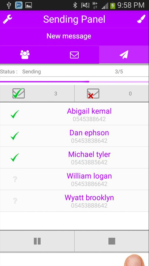 Multi SMS & Group SMS PRO Screenshot 6