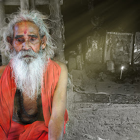 Meditation by Abhijit Mukhopadhyay - People Portraits of Men