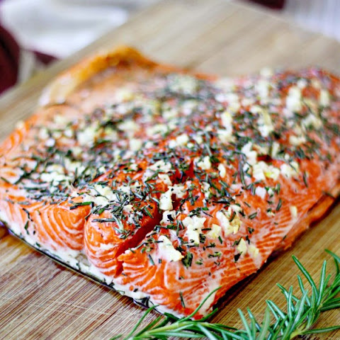 Rosemary and Garlic Roasted Salmon {revisited}