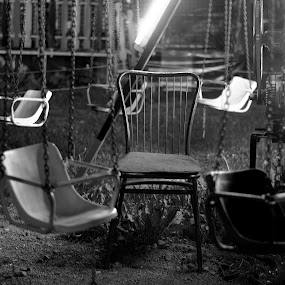 Closing time by Jelena Seničić Vilimanović - City,  Street & Park  Amusement Parks ( chair, amusement park, park, night )