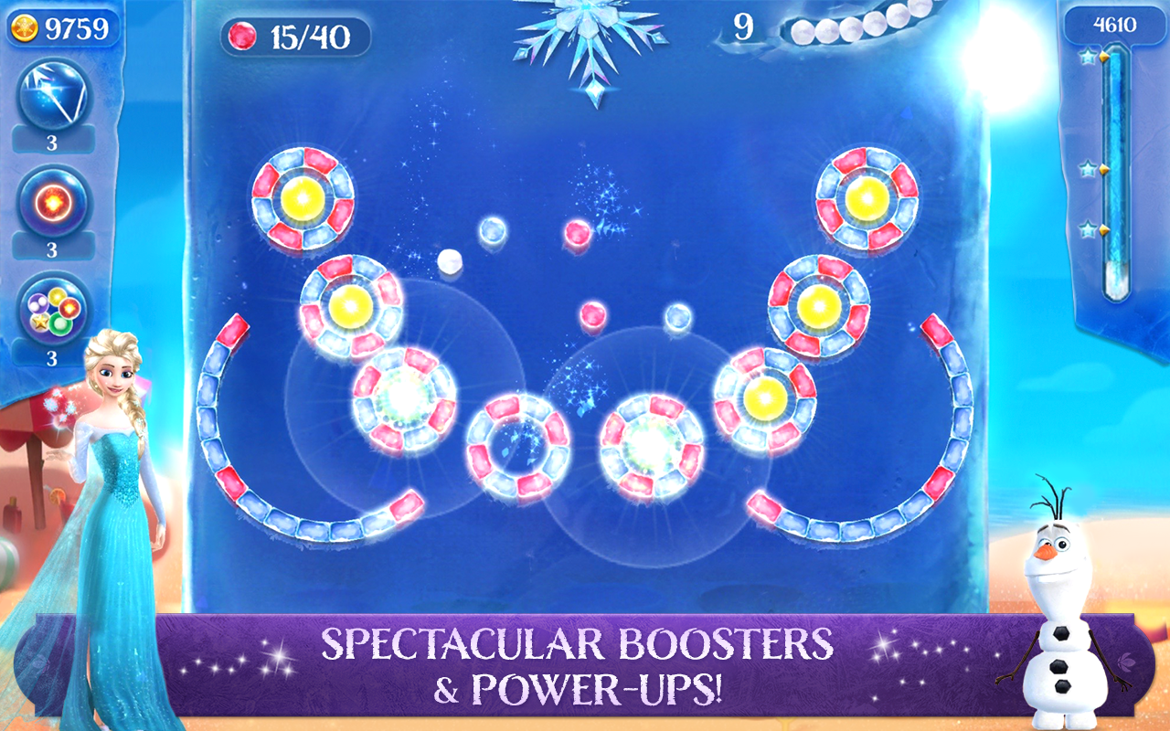 Frozen Free Fall: Icy Shot Screenshot 1