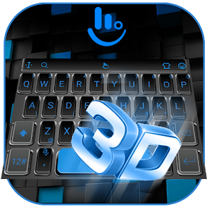 3D Classic Business Blue Keyboard Theme