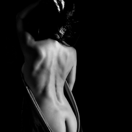 The Back by Peter Driessel - Nudes & Boudoir Artistic Nude ( art nude, nude, black and white, naked, women )