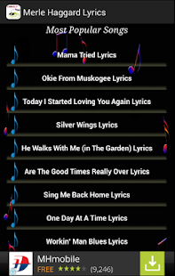 Merle Haggard Songs - screenshot