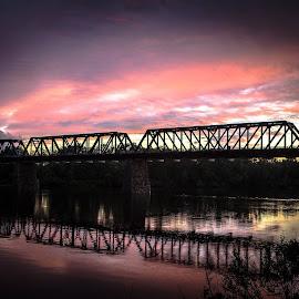 sunset bridge by Philippe Lacroix - Buildings & Architecture Bridges & Suspended Structures