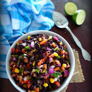 Simple Black Jasmine Rice Salad