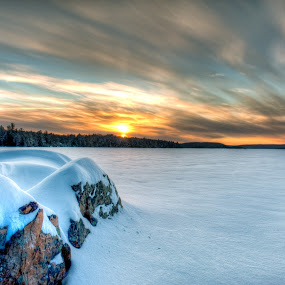 Algonquin Sunrise by William Ducklow - Landscapes Sunsets & Sunrises
