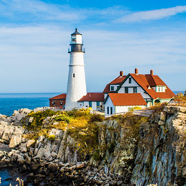 Headlight by Richard Michael Lingo - Buildings & Architecture Other Exteriors ( portland, maine, lighthouses, portland headlight, landscape,  )