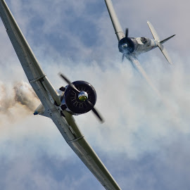 Smoke by Greg Harrison - Transportation Airplanes ( military aircraft, japanese zero, wwii aircraft, pearl harbor, movie tora tora tora )