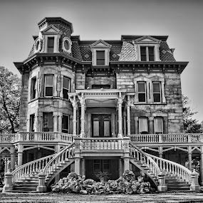 Historic Landmark by Vicki Overman - Buildings & Architecture Public & Historical ( old house, mansion, staircase, illinois mansion, restored mansion )