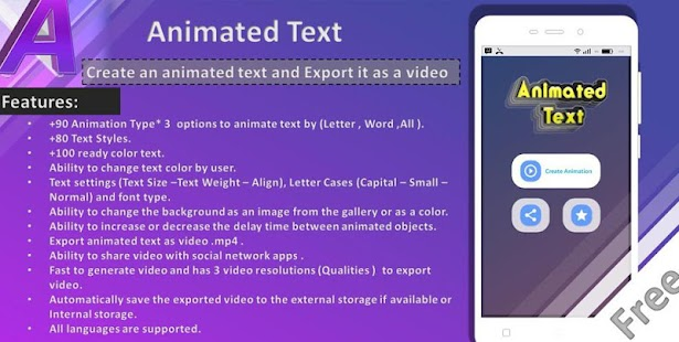 Animated Text Creator - Text Animation video maker for pc