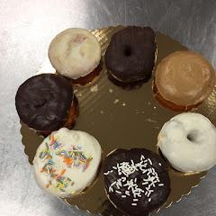 Donuts:  chocolate, chocolate expresso, birthday cake, vanilla, apple cider, lemon.