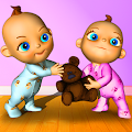 Talking Baby Twins - Babsy APK for Bluestacks
