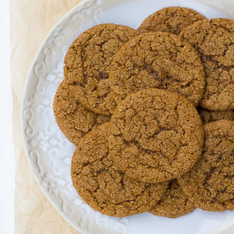 Grain-Free Chewy Molasses Crinkle Cookies {Dairy & Refined-Sugar-Free Options}