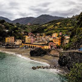 Cinque Terre II by Pascal Hubert - City,  Street & Park  Vistas