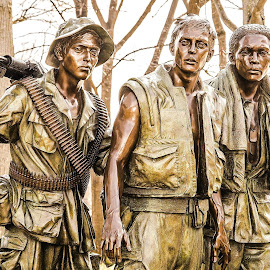 Vietnam Soldiers by Diane Ljungquist - Buildings & Architecture Statues & Monuments ( thanks so much. it is in washington, dc. at the vietnam memorial.,  )