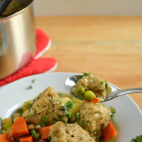 Vegetarian Stew with Dumplings