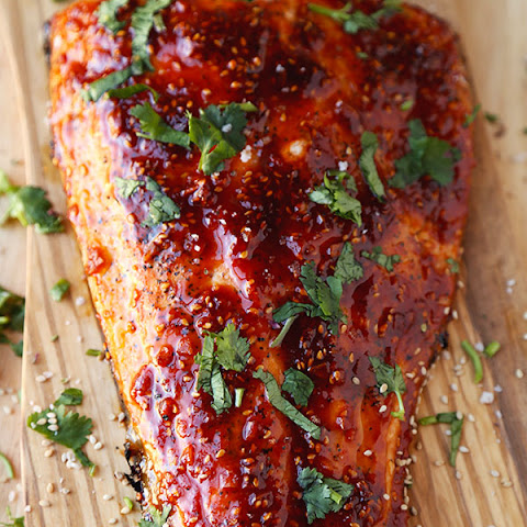 Honey Sriracha Oven Baked Salmon