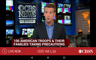 Screenshot of CBS News