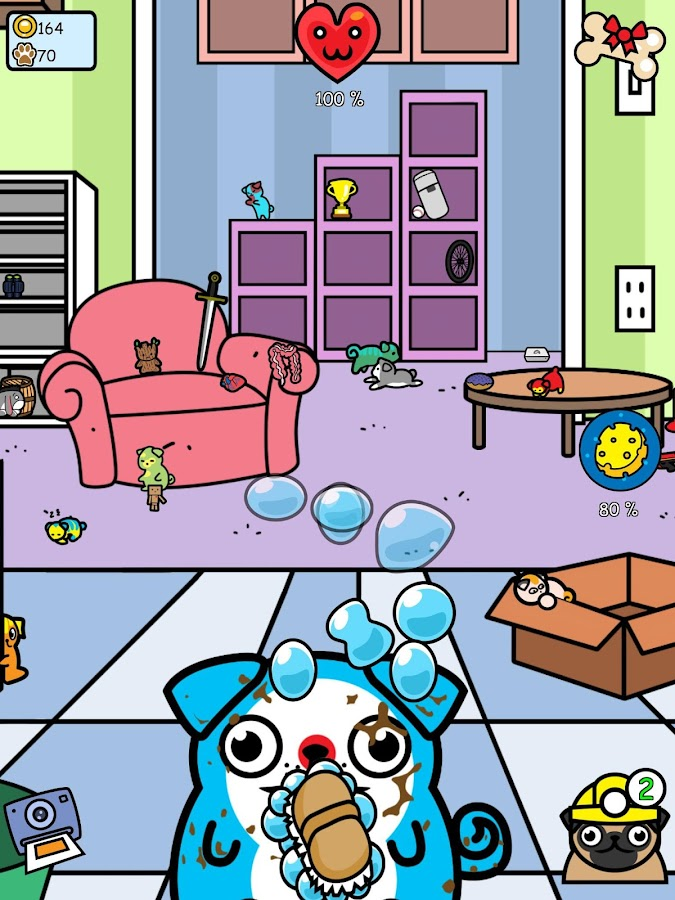 Virtual Pet Pug -Dog Collector Screenshot 2
