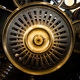 Wheel and Cogs by Darrell Evans - Artistic Objects Industrial Objects ( old, wheel, industry, mill, industrial, round, cast iron, cogs, machine, manufacturing, iron, circle, machinery )