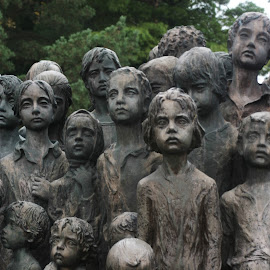 In Memory Of The Lost Children Of Lidice by Brenda Hooper - City,  Street & Park  City Parks ( extermination camp, park, czech republic, nazi, children, lidice,  )