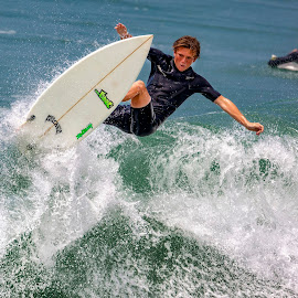Oceanside by Mark Ritter - Sports & Fitness Surfing ( surf, surfer, macro, closeup, surfing, oceanside, california, wave )