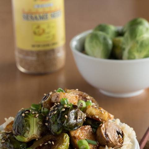Sweet Sesame Roasted Brussel Sprouts and Tofu