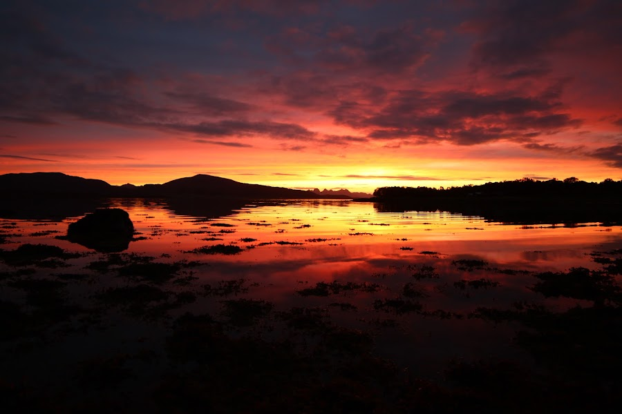 sundown by Benny Høynes - Landscapes Sunsets & Sunrises ( bogan, colourful, sunsets, maurnes, sortland )