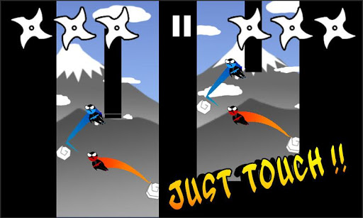 Jumping Ninja Two player - screenshot