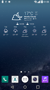 Weather Icons UX 4 for Chronus - screenshot