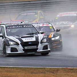 First Corner Action by Gareth Dickin - Sports & Fitness Motorsports ( motorsport, race, corner, car, action, speed )