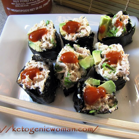 Ketogenic Spicy Tuna Rolls