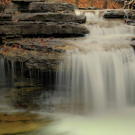 CASUAL CASCADE by Dana Johnson - Landscapes Waterscapes ( stream, waterfalls, cascade, falls, ozark, landscape )
