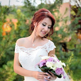 My bouquet by Klaudia Klu - Wedding Bride ( bouquet, white, smile, bride )
