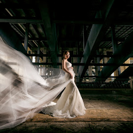 Moving with your Veil by Ken Raven - Wedding Bride ( wedding photography, wedding photographers, wedding gown, wedding day, weddings, wedding, wedding dress, malaysia, wedding photographer, bride and groom, veil, bride, groom )