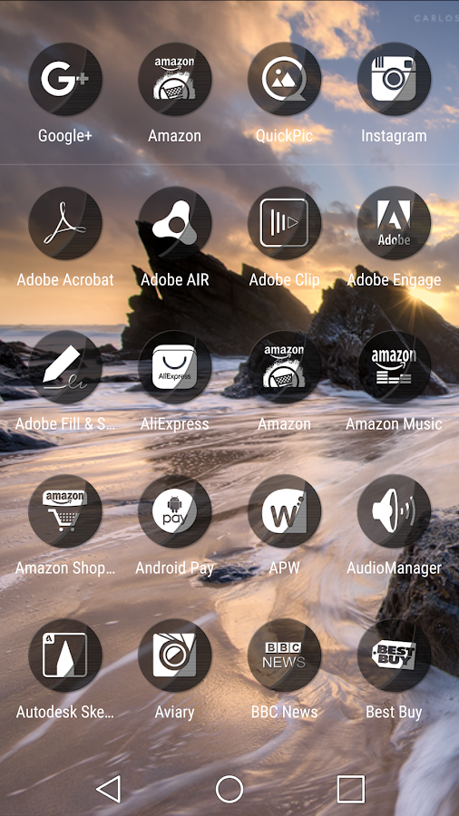 Naz Transparency - Icon Pack Screenshot 1